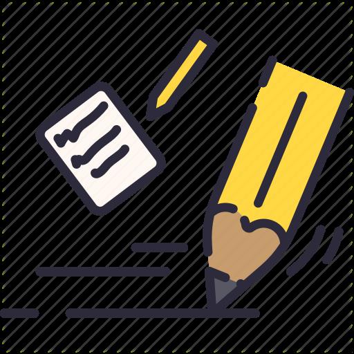 Note Paper Pencil School Write Icon School Icon Icon School