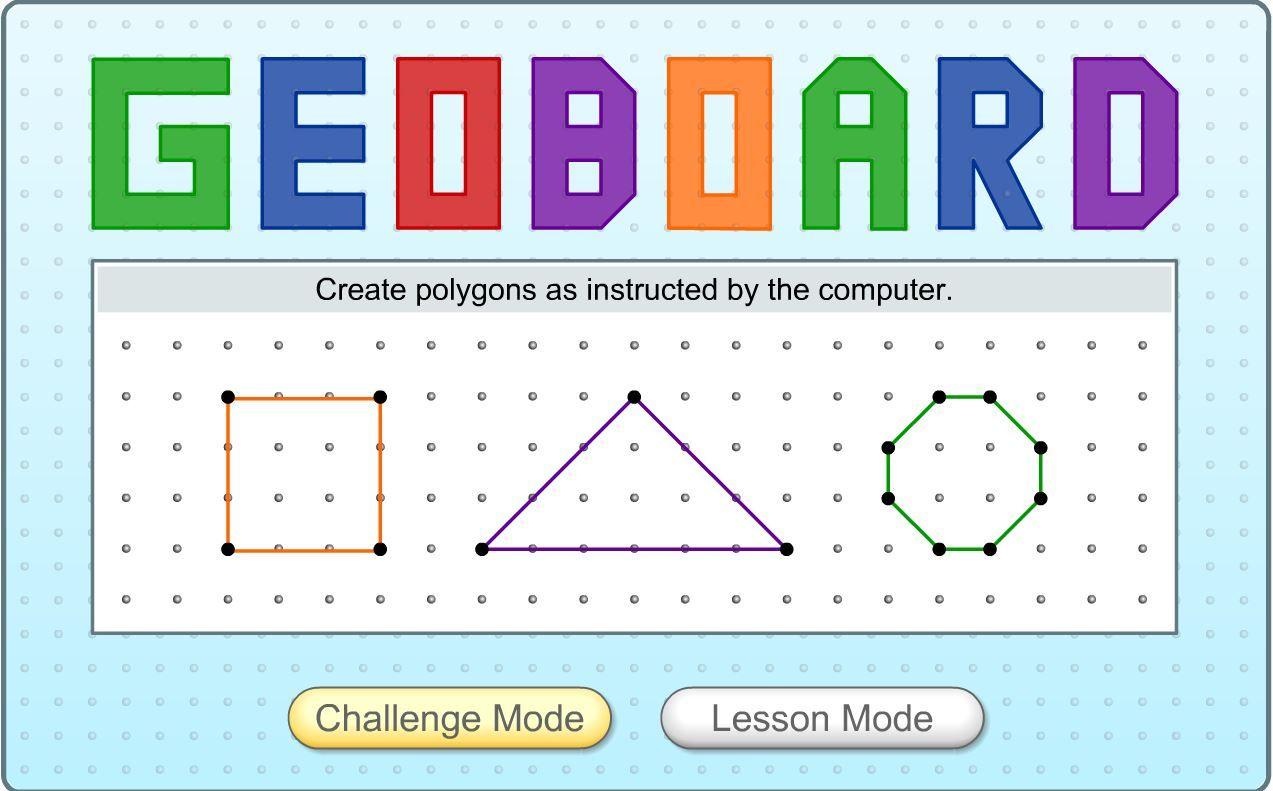 3rd Grade Math Learning Activity Geoboard