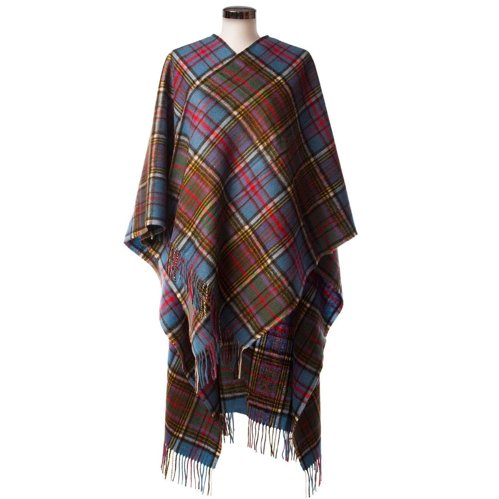 Pure Lambswool Tartan Cape, Anderson