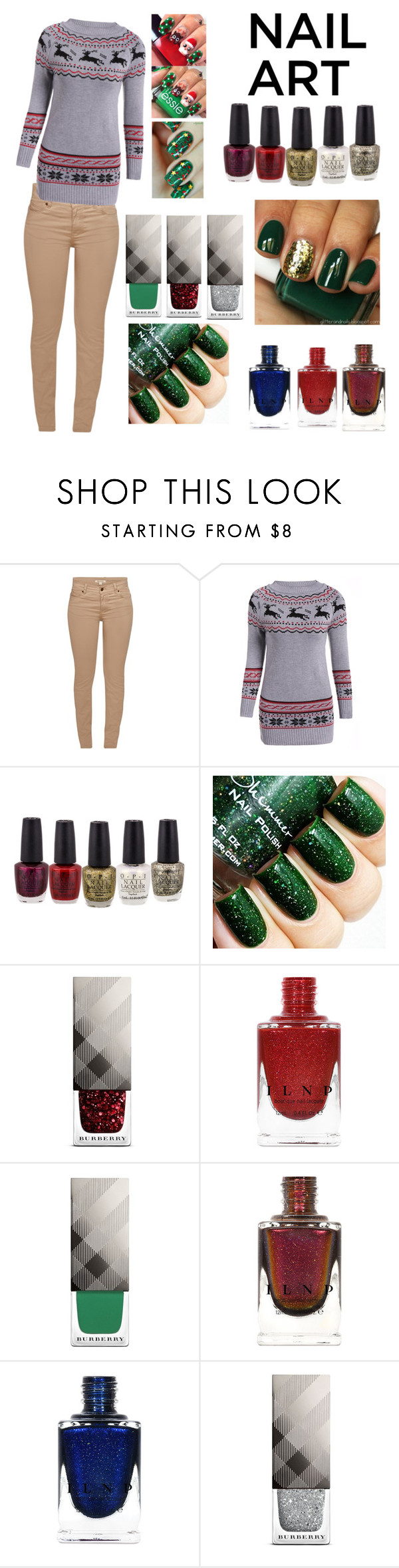 """NAIL ART!!"" by wilma-hjorklund ❤ liked on Polyvore featuring beauty, Barbour and Burberry"