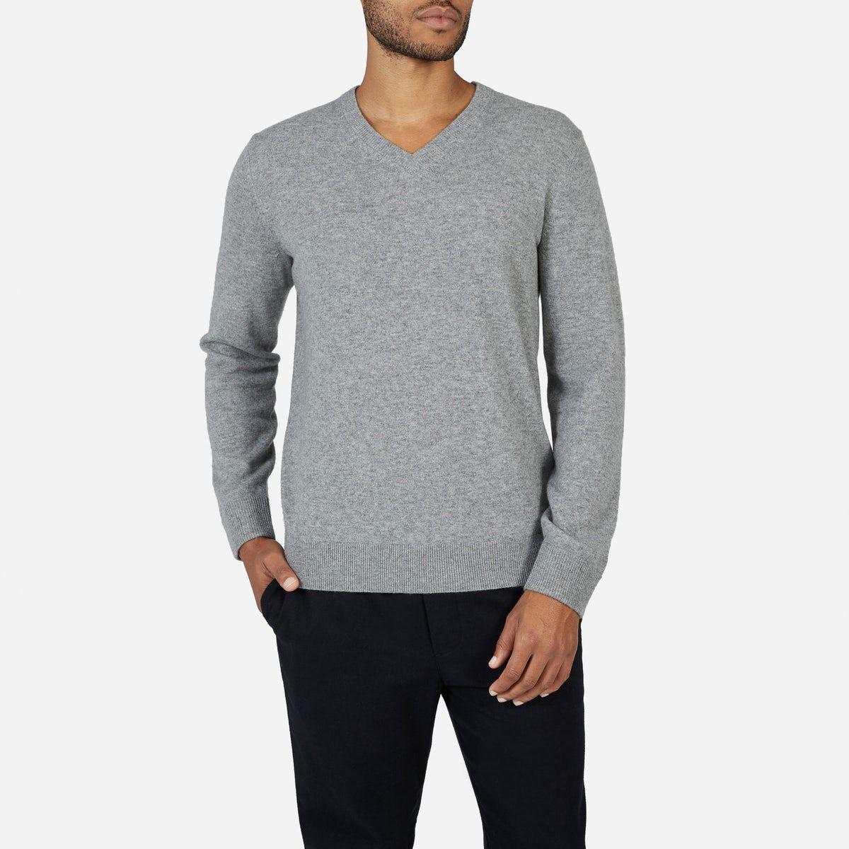 Men S Cashmere V Neck Everlane Mens Cashmere Men Sweater Cashmere [ 1200 x 1200 Pixel ]
