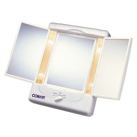 Conair Illumina Collection 3 Panel Lighted Makeup Mirror With