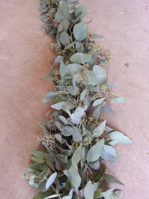 Seeded Eucalyptus And Silver Dollar Garland
