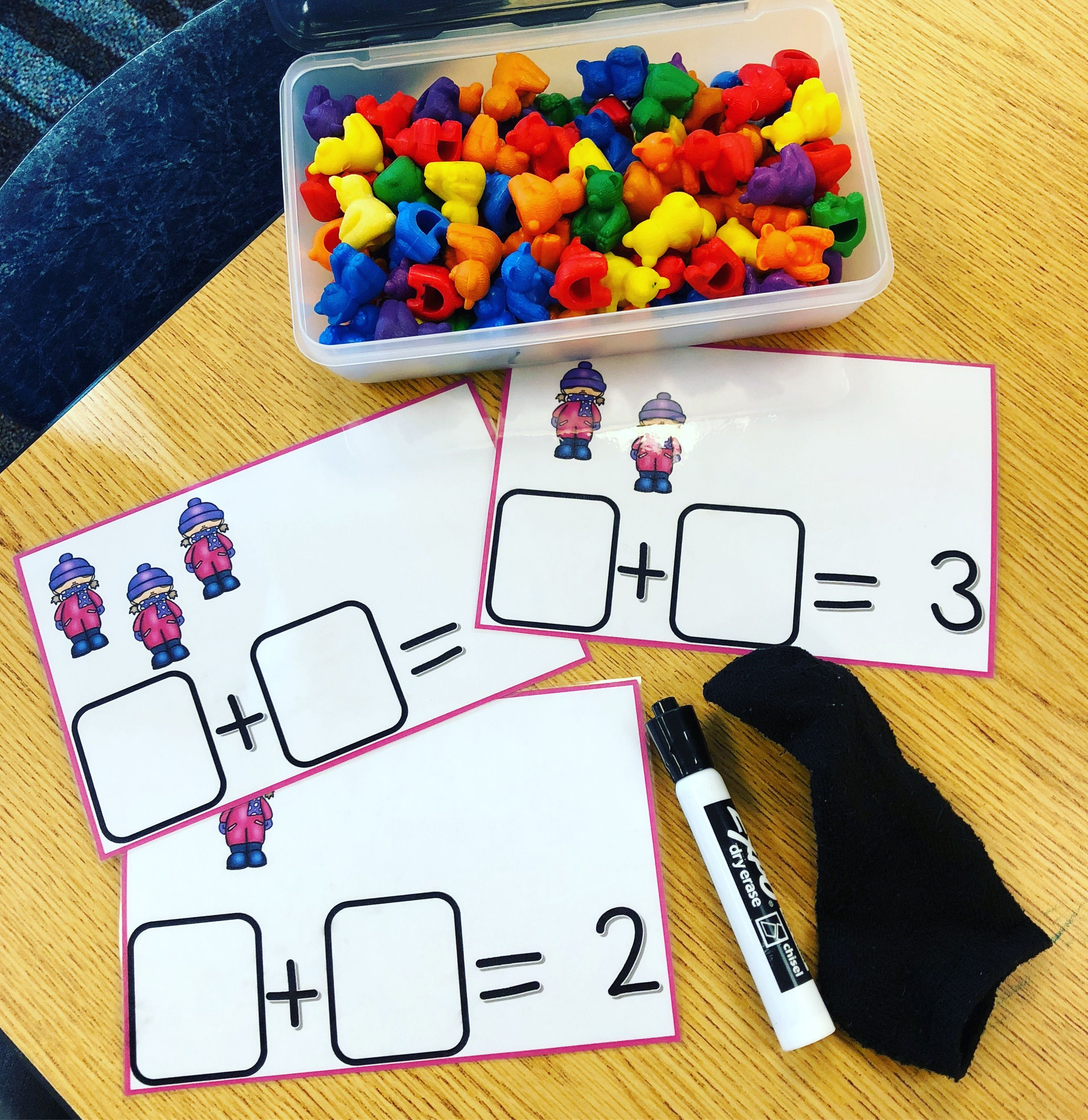 Counting On To Solve Addition Equations Winter Theme