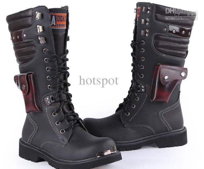 Wholesale Mens Boots Cool Rivet Knee Boots Heighten Boots Outdoor ...