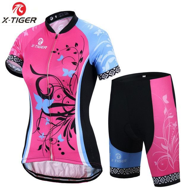 X-Tiger Adina Short Sleeve Breathable MTB Bike Clothing Women Bicycle  Clothes Ropa Ciclismo 100% Polyester Cycling Jersey Set 11f410893