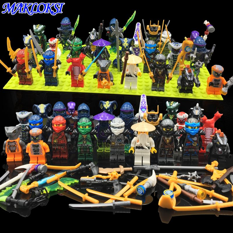 35 28 Awesome 24pcs Lot Ninja Model Building Block Classic Action Figures Toys For Children Gifts Wi Building Toys For Kids Building Toys Diy Gifts For Kids