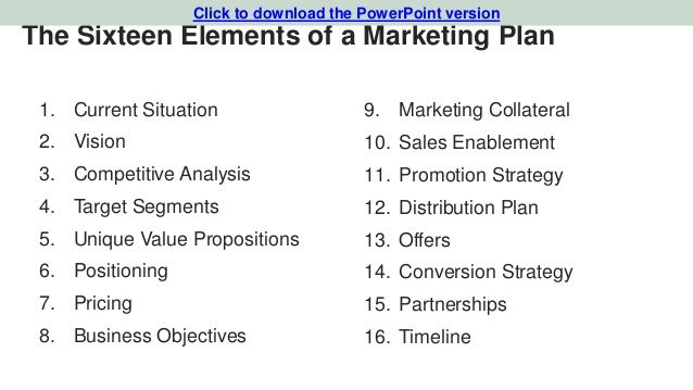 Business marketing plans