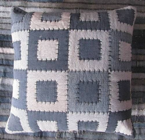 Denim Patchwork Cushions