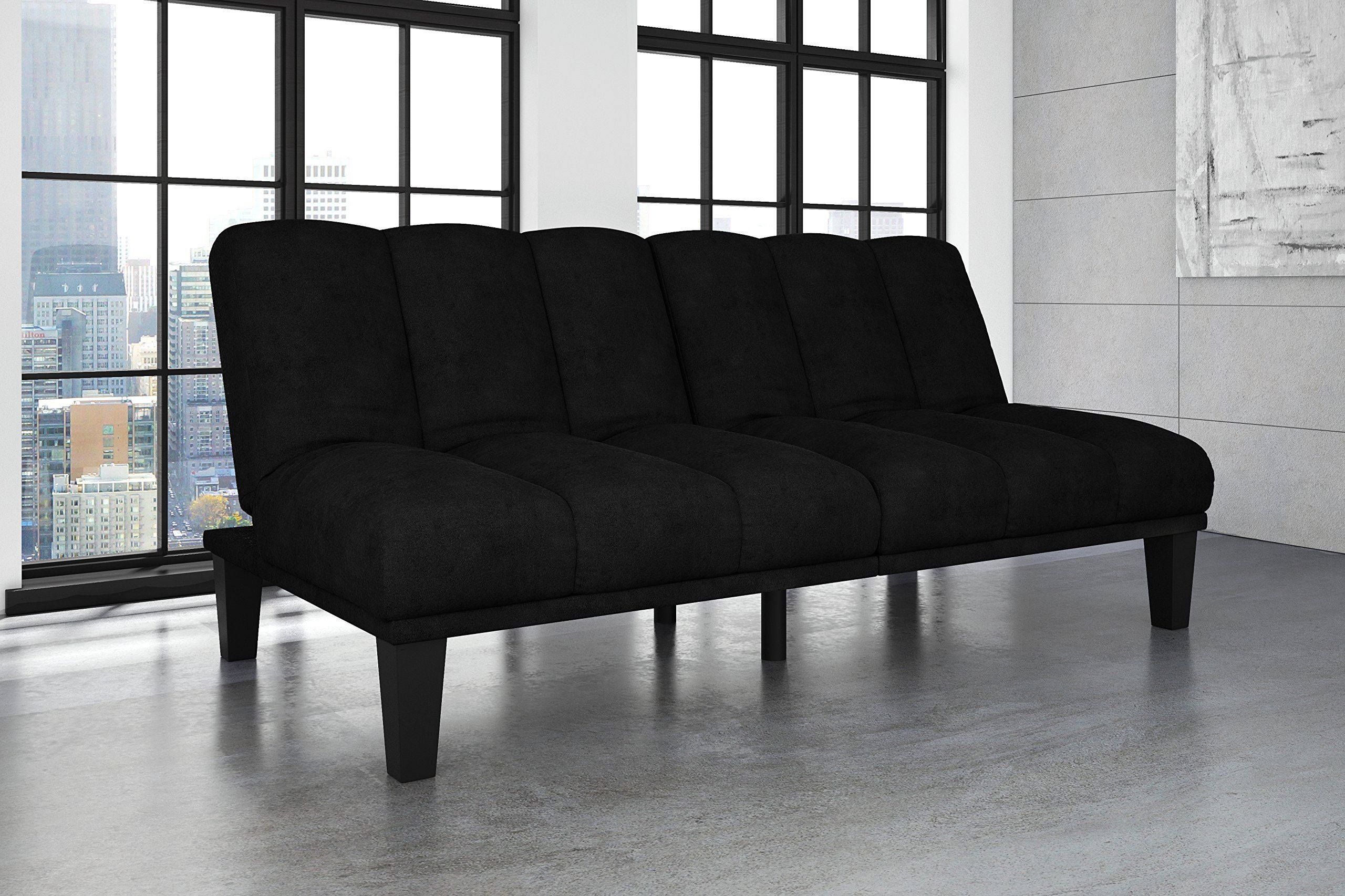 Hamilton Estate Premium Sofa Futon Sleeper Comfortable Plush Upholstery Rich Black You Can Find More Details By Visiting The Image Link