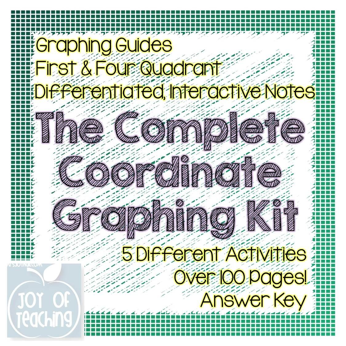 The Complete Coordinate Graphing Kit Includes 5 Different