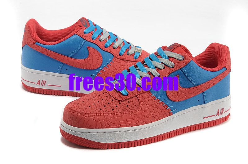 big sale 30cb9 57d58 Nike Air Force 1 LE Godzilla Pack Red Blue 488298 412,Frees30.com full of Nike  Air Force 1 For Half Off