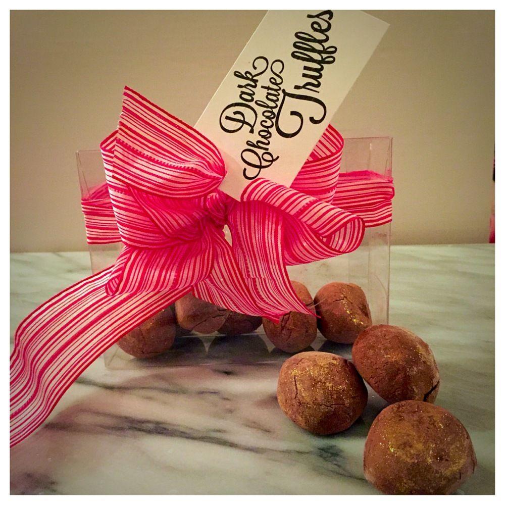 box of dark chocolate truffles