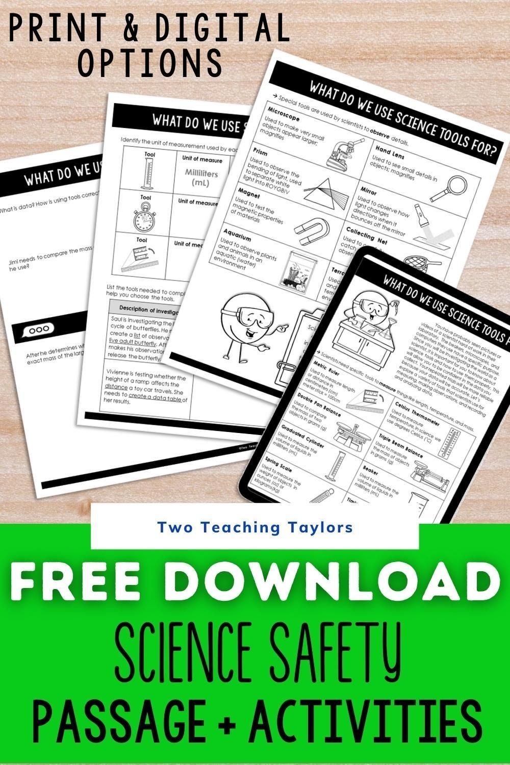 Science Safety Activities Freebie In 2020 Science Safety Science Safety Activities Science Safety Lessons