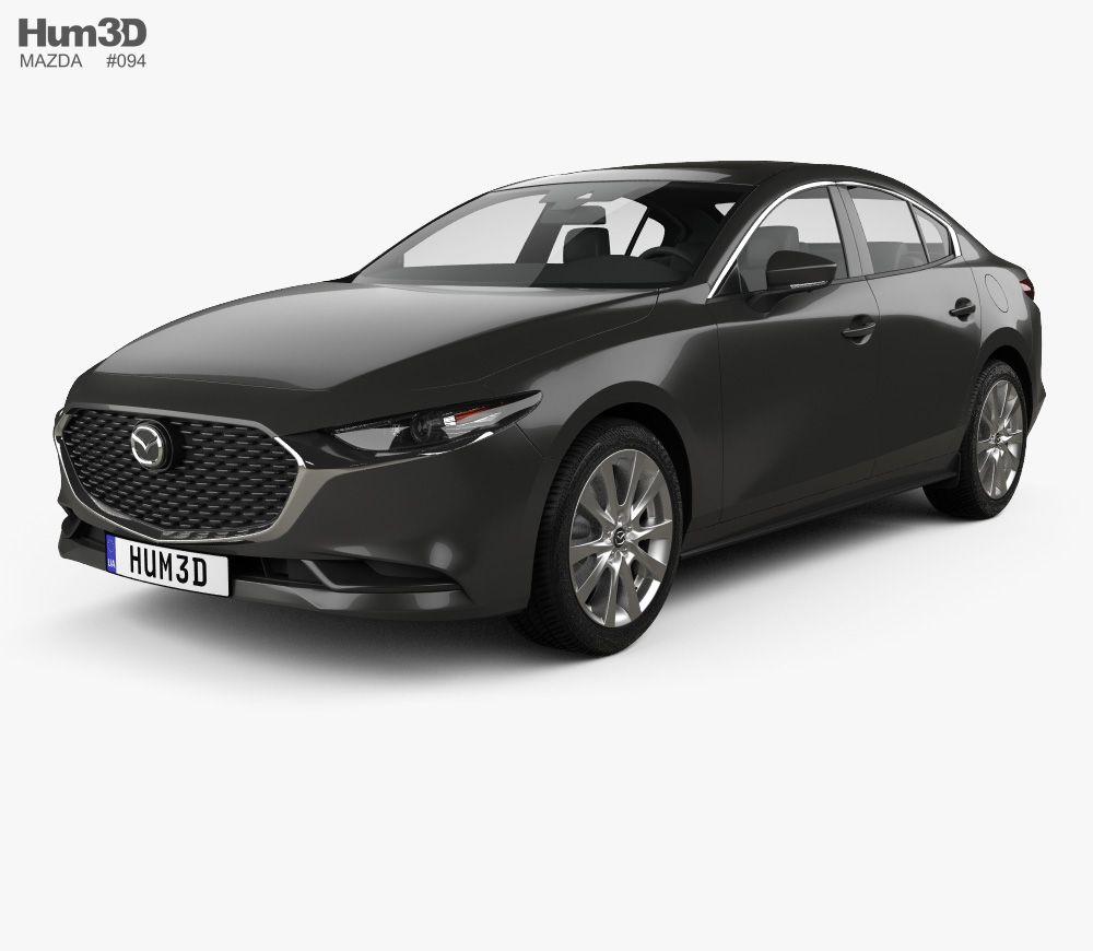 3d Model Of Mazda 3 Sedan 2019 Mazda 3 Sedan Mazda Sedan