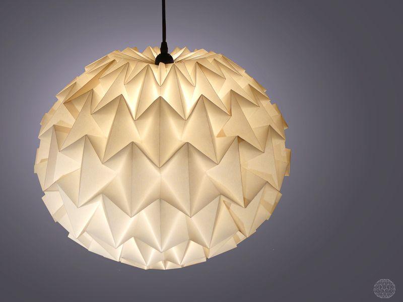Lampenschirm Schlafzimmer ~ Spherica xl origami lampenschirm lamp modern