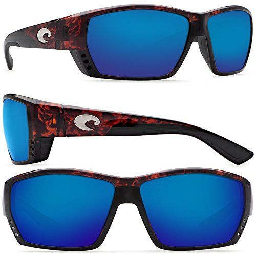 Costa Del Mar Tuna Alley Sunglasses Tortoise Blue Mirror 580 Glass Lens -- Click image to review more details.