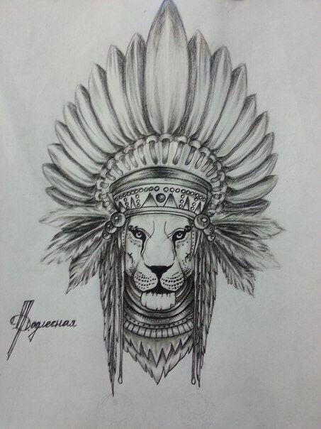 картинки льва индейца