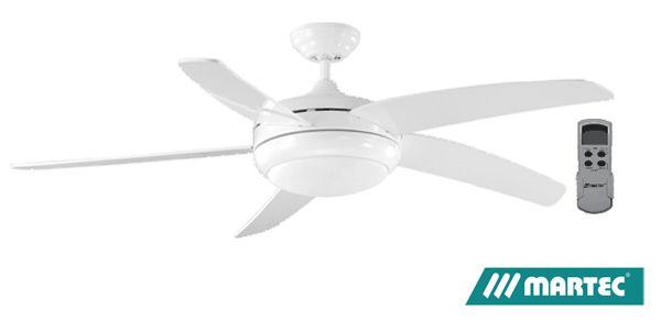 Martec envirofan ceiling fan white with t6 light remote 52 1300mm martec envirofan ceiling fan white with t6 light remote 52 1300mm met633wh mozeypictures Choice Image