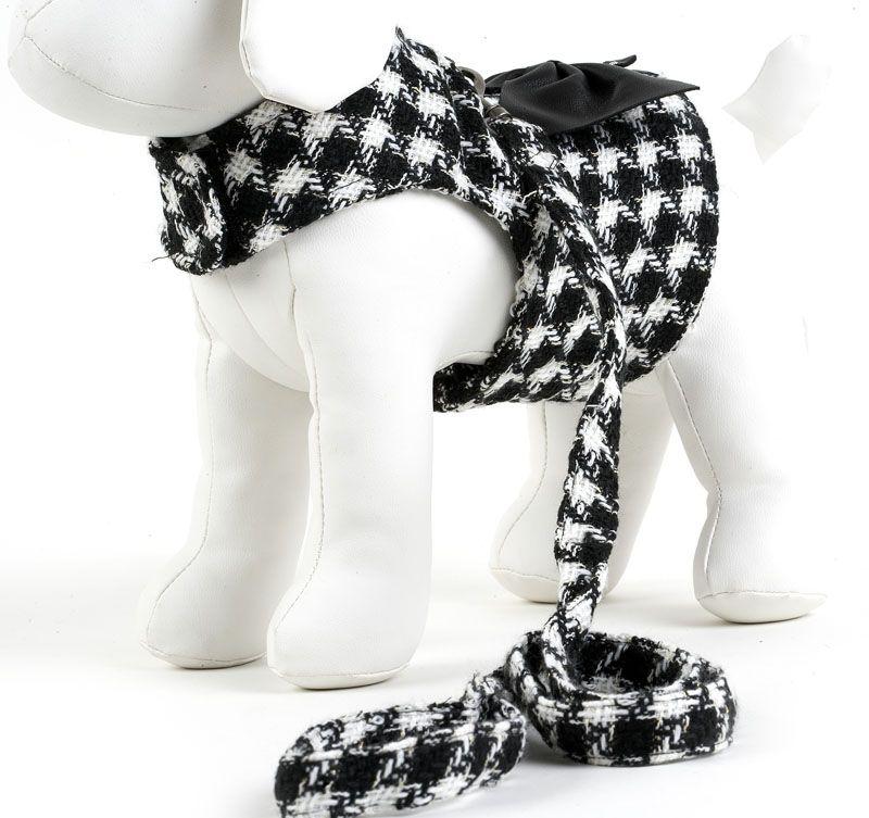 Dog Harness Black & White