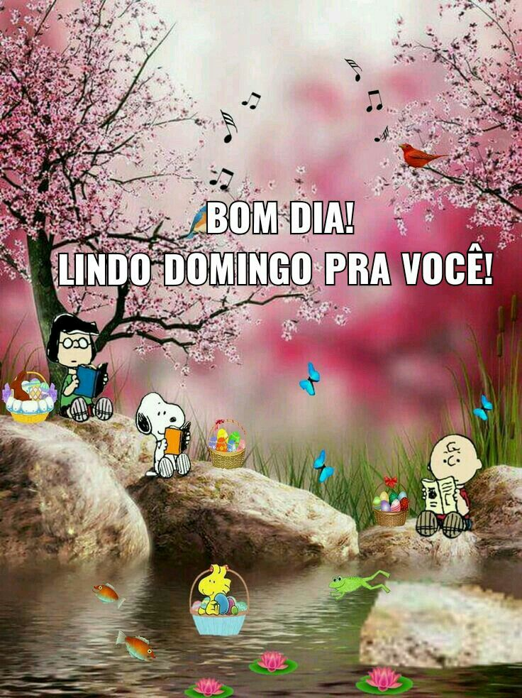 Bom Domingo Domingo ótimo Good Morning Y Snoopy