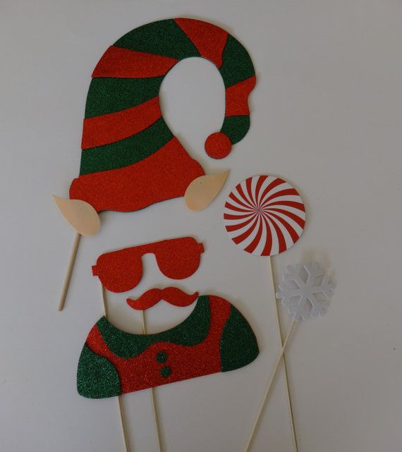 Chirstmast Photo Booth Props  Good and Bad Elf by LUCIOUSMAXIMUS, $29.00