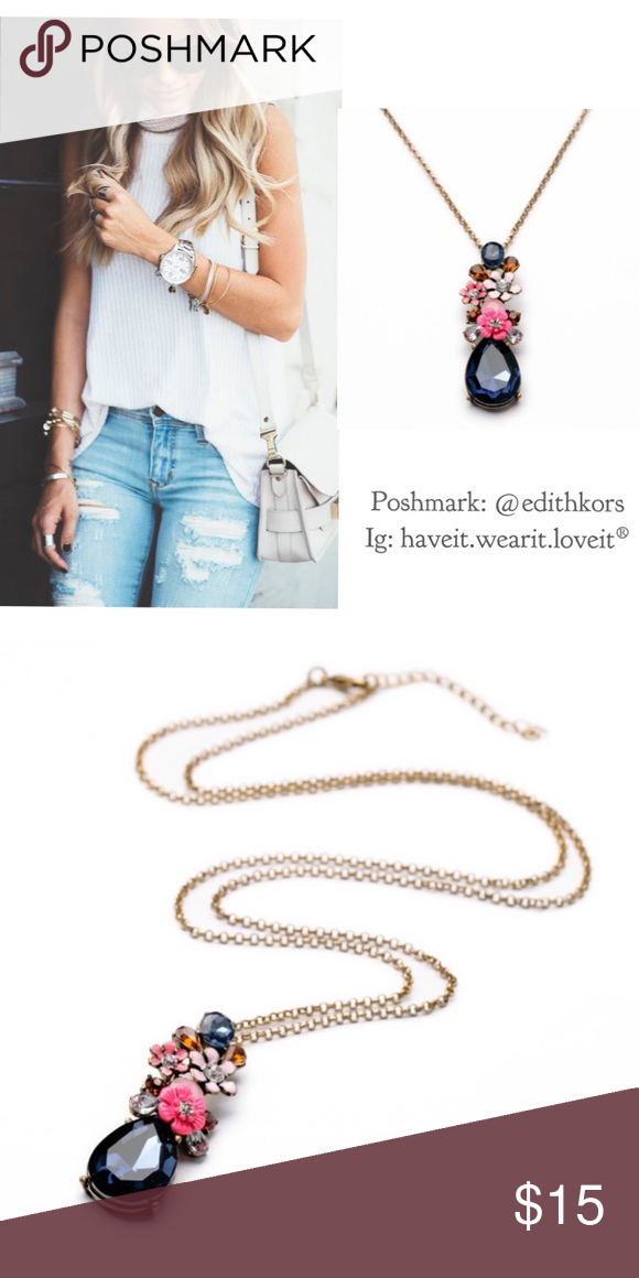 33275921e Vintage pendant long necklace Cute bouquet necklace. NWT retail! So cute