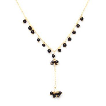 Check out this item at One Kings Lane! Mara Necklace, Black