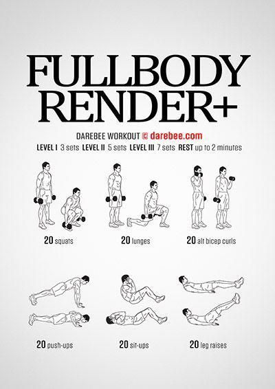 Full Body Render Workout | Posted by: NewHowtoLoseBellyFat.com