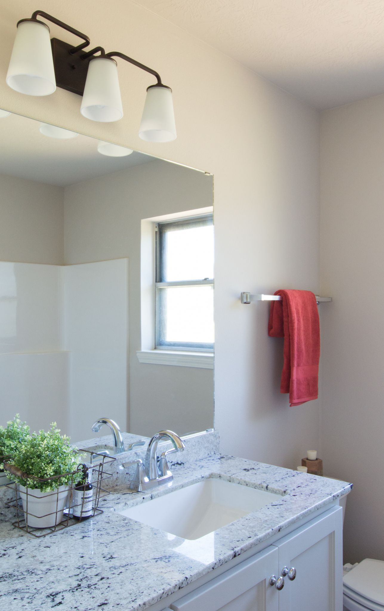 Modern Farmhouse Bath Chrome And Oil Rubbed Bronze Fixtures Jk