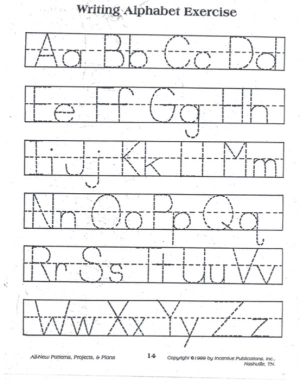 Practice tracing the alphabet with this simple reproducible ...