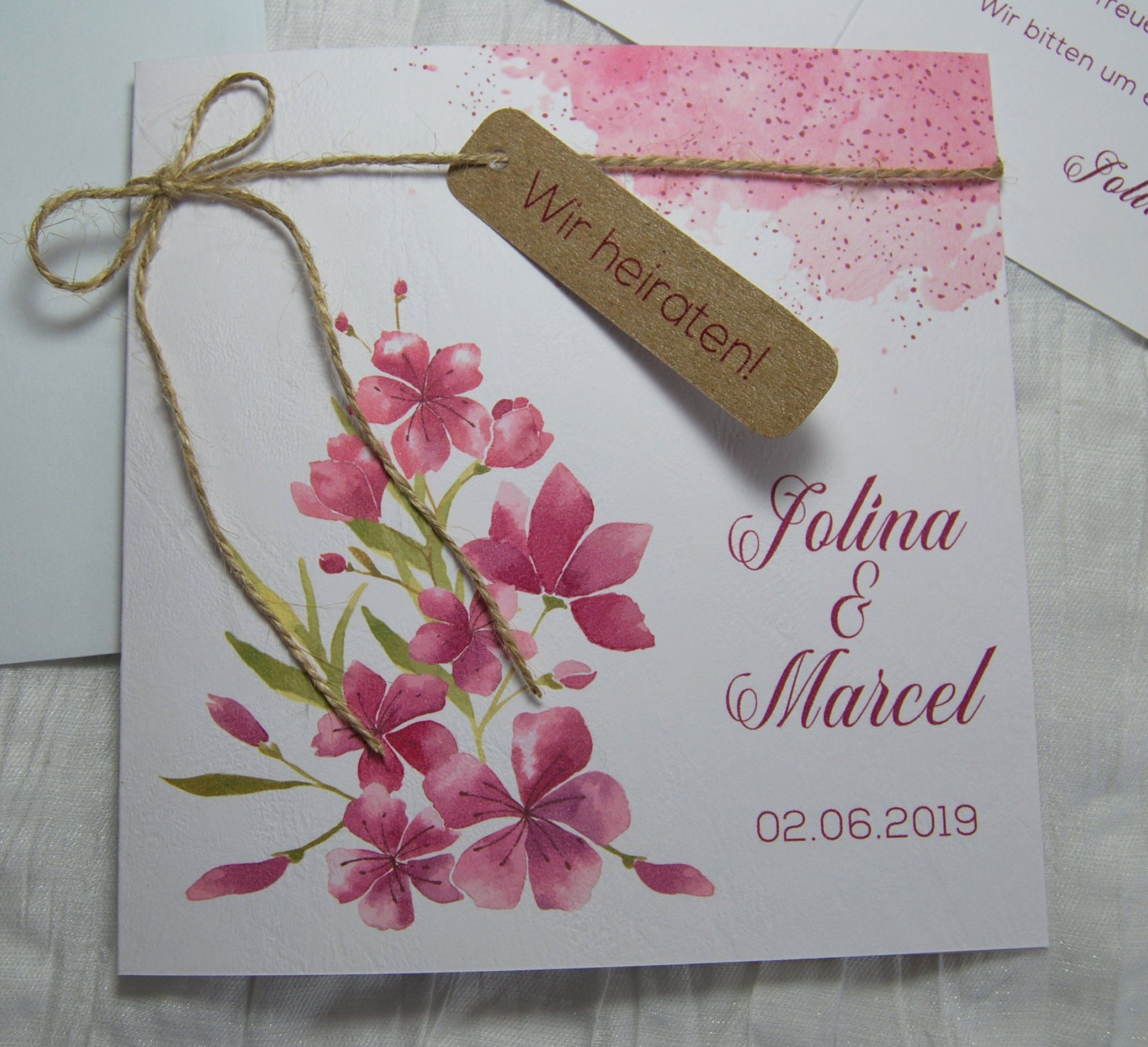 10x Hochzeitseinladung Kirschblute Cherry Blossom Floral Boho Blute Fruhling Einladung Zur Hochzeit Hochzeitskarte Karte Einladungskarte Wedding Invitation Cards Mountain Wedding Invitations Wedding Invitations