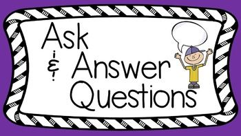 RL 3 1 PowerPoint: Ask and Answer Questions in Literature | RL & RI