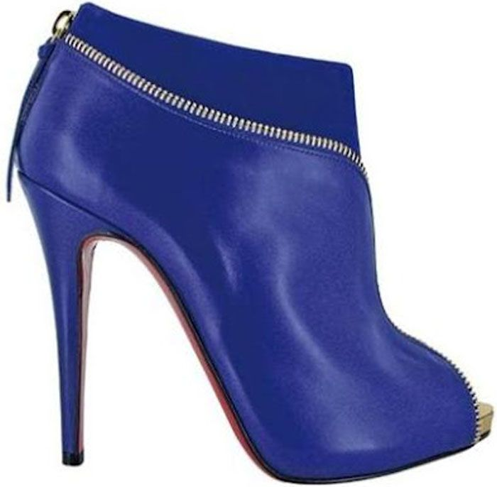 Christian Louboutin Fall 2012-blue-bootie...