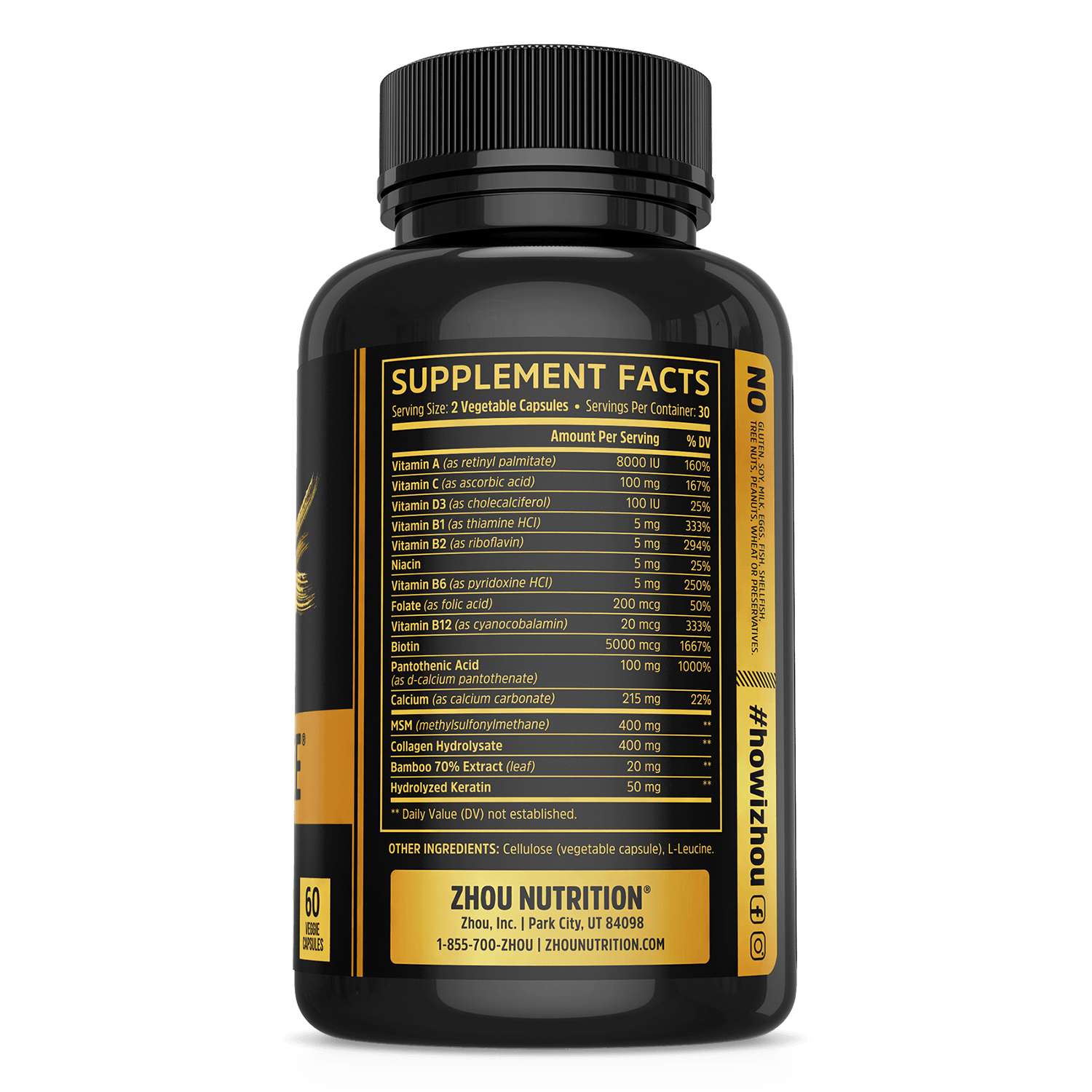 keyword[1]} and Hairfluence Hair Vitamin | Healthy Hair Growth Supplement - Zhou Nutrition