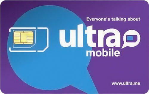 New Ultra Mobile Triple Punch Mini/Micro/Nano Purple SIM Card
