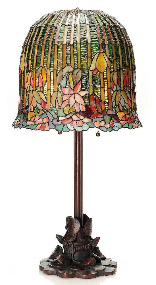 Hanging Lotus Stained Glass Table Lamp   29 Inches   Stained Glass Table  Lamps, Glass Table Lamps And Glass Table