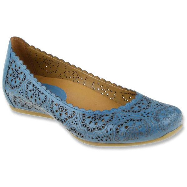 women's flats: Earthies Women's Bindi Pacific Blue Full Grain Leather Flat  12 M