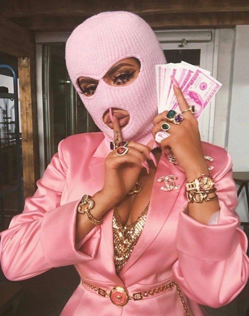 Gangster Girl Baddie Pink Ski Mask Aesthetic : gangster, baddie, aesthetic, Solid, Color, Aesthetic,, Aesthetic