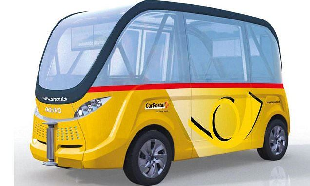 Switzerland to launch buses on public streets next year that drive themselves (but don't climb on board if you're in a hurry as they only do 12mph) [Self-Driving Vehicles: http://futuristicnews.com/tag/self-driving/]