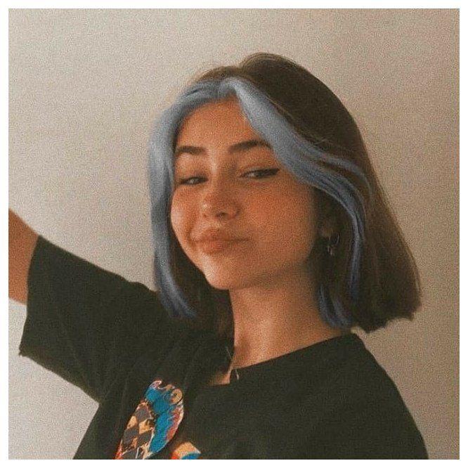 split hair color pixie