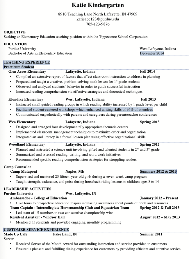 resident assistant resume