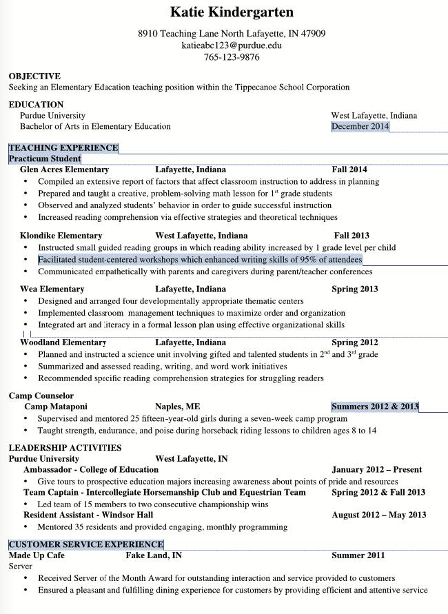 Sample Resume Elementary Education Teaching http – Teacher Sample Resume Elementary