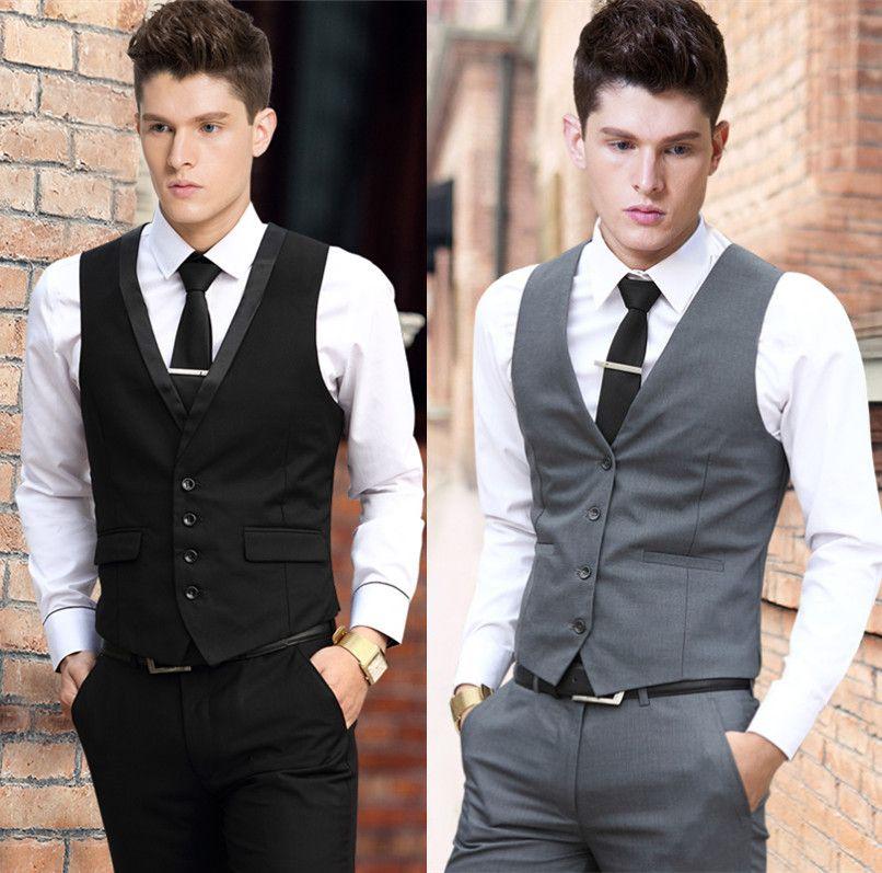 Vestido Del Chaleco Del Hombre De Negocios Formal Del Partido Del Vestido Del Chaleco Traje Para Chaleco De Vestir Men Dress Suit Vest Y Suits