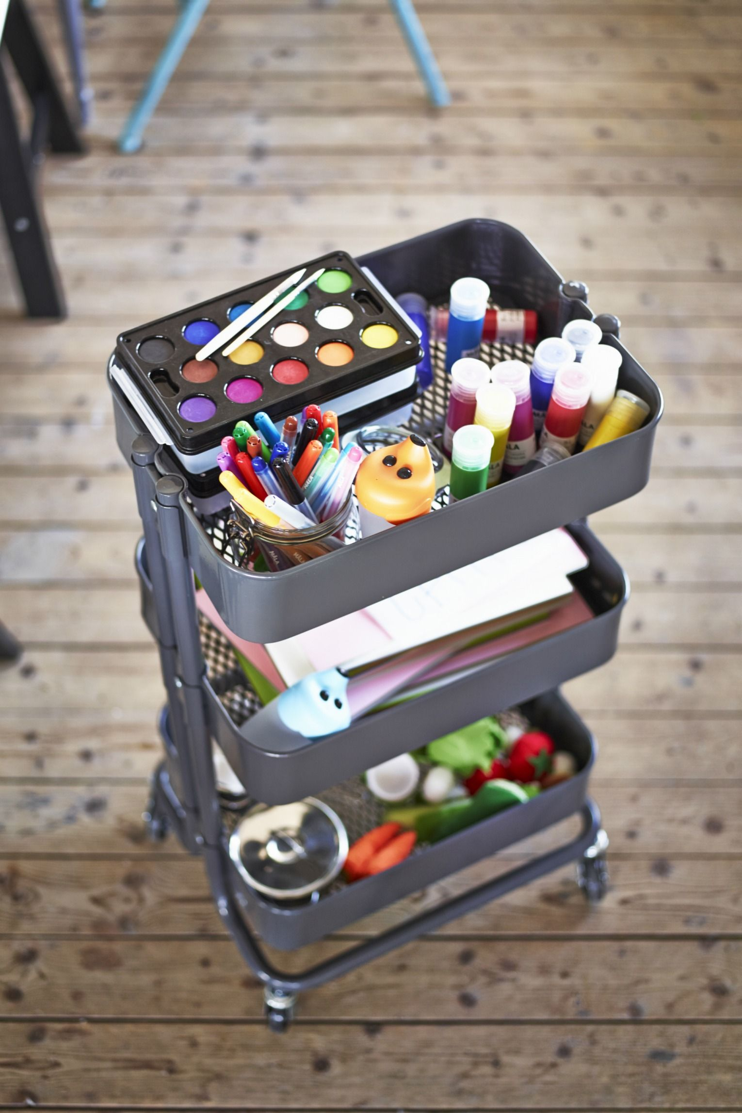 Creativity In A Cart! Use Your Ikea RÅskog Utility Cart As An Art Cart That