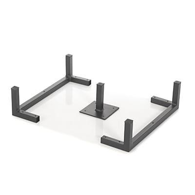 Lot De 3 Pieds Metalliques Pour Etagere Tassia Mobilier De Salon