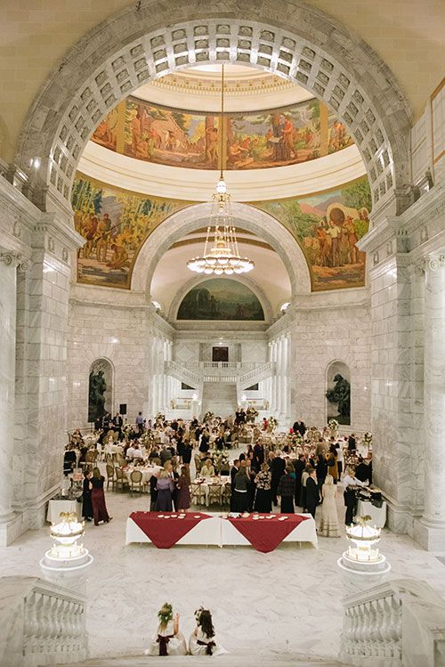 An elegant fall hued wedding in salt lake city reception Places to have a fall wedding