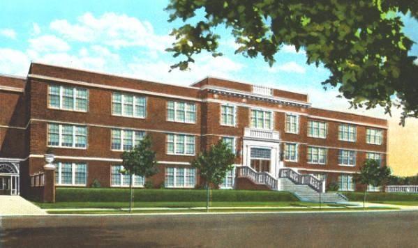 The original Amarillo High School on Polk