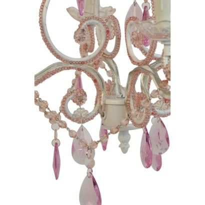 Tadpoles 4 Bulb Mini Chandelier - Pink.Opens in a new window