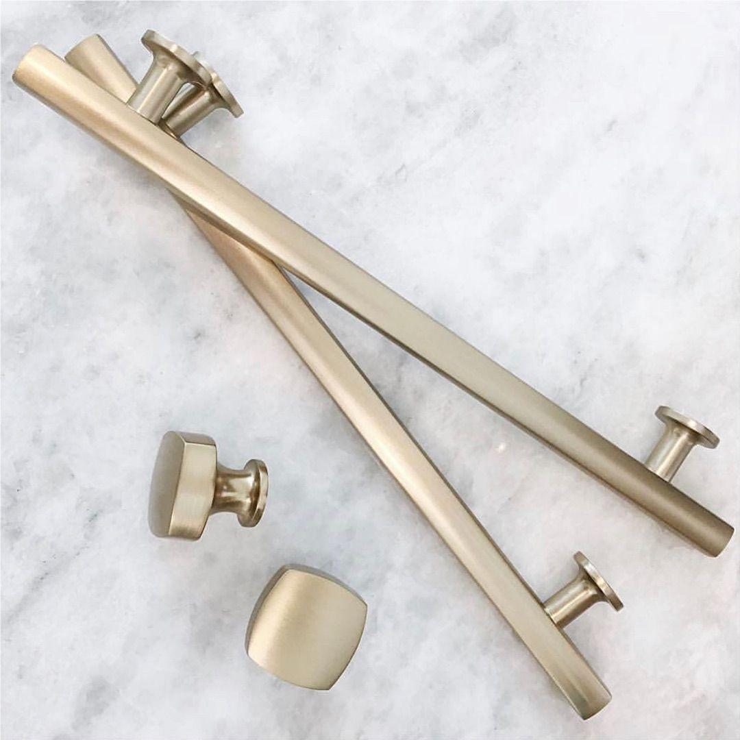 I Finally Settled On Satin Brass For All The Finishing Hardware In My House I Might Have Snuck A Little Matte B Brass Kitchen Hardware Cabinet Hardware Emtek